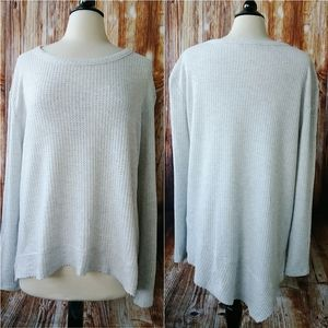 Ivory Colored Thermal Oversize Top